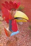 Rooster - Metal Art royalty free stock image