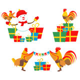 Rooster New Year Royalty Free Stock Images