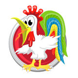 Rooster. Orient horoscope sign  in circle. Chinese symbo Stock Images
