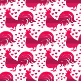 Rooster pattern4 Stock Image