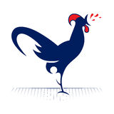 Rooster redneck icon Stock Image