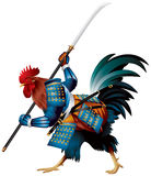 Rooster Samurai Royalty Free Stock Photo