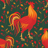 Rooster seamless pattern Stock Images