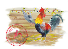 Rooster singing Royalty Free Stock Image