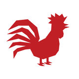 Rooster single simple icon silhouette 2017 Stock Image
