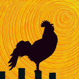 Rooster sketch background Royalty Free Stock Photo