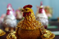 Rooster Statue. Close Up Rooster Statue in China Stock Photography