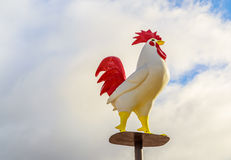 Rooster Statue on Pedestal Stock Photography