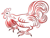 Rooster - symbol of Chinese New Year Royalty Free Stock Photos