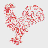 Rooster symbol logo. For eastern calendar.2017 chinese new year. Rooster Year. Vector Illustration Stock Image
