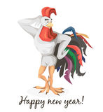 Rooster the symbol of the new year Stock Photos