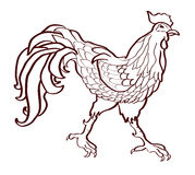 Rooster - a symbol of the new year, 2017 Royalty Free Stock Images