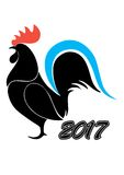 Rooster symbol 2017 Royalty Free Stock Photo