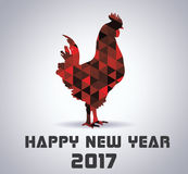 Rooster Symbol 2017 Year In Chinese Calendar. Rooster Red Symbol 2017 Year In Chinese Calendar - Cock 2017 Year - Stock Calendar Royalty Free Stock Photography