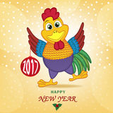 Rooster symbol of 2017 year Royalty Free Stock Photos