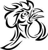 Rooster tribal Stock Photography