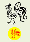 Rooster tribal Stock Image
