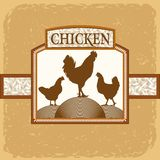 Rooster and two hens Stock Image