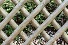 Rooster van houten latjes wordt gemaakt dat stock foto's