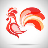 Rooster.Vector China New Year Greeting Card design. Vector Rooster. China New Year Greeting Card for your design Stock Image