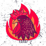 Rooster vector illustration. Royalty Free Stock Photography