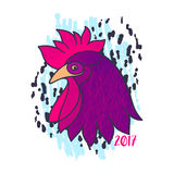 Rooster vector illustration. Stock Photos