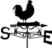 Rooster Weather Vane Black Stock Photo