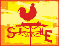 Rooster Weather Vane Sunset Royalty Free Stock Photos