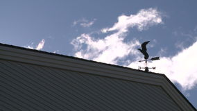 Rooster weather vane (2 of 3). A view or scene from around town stock video footage