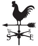 Rooster weather vane royalty free illustration