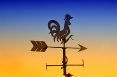 Rooster weathervane Stock Photo