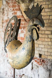 Rooster weathervane Riga. An old copper weather vane cock Stock Images
