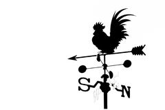 Rooster weathervane Stock Images