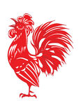 Rooster on a white background, Stock Photography