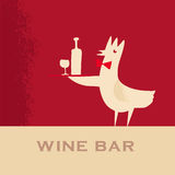 Rooster wine bar Royalty Free Stock Photography