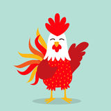 Rooster year icon. This is Rooster year icon design. Vector file Royalty Free Stock Photo