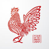Rooster Year 4 Stock Images