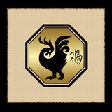 Rooster zodiac icon Royalty Free Stock Photos