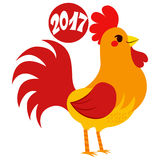 2017 Rooster Zodiac Sign. Cute 2017 rooster zodiac sign design with text celebrating Chinese new year Stock Photos