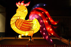 The Rooster Zodiac sign. SYDNEY, AUSTRALIA - 7 FEBRUARY, 2016; The Rooster one of the Chinese zodiac signs on display in Pitt Street Mall for Chinese New Year stock image