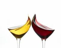 Roosterende wijnglazen Stock Afbeelding