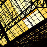 Roosterkader van dakraamvenster stock fotografie