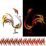 Roosters. Vector illustration of abstract fire rooster Royalty Free Stock Photography