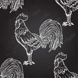 Roosters seamless pattern Stock Photos