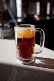 Root Beer. Homemade Root Beer in a glass on a bar Stock Photo