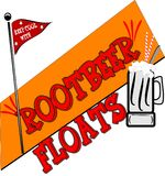Root beer background Stock Images