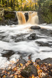 Root Beer Falls in Wakefield Michigan in the Upper Peninsula of Stock Photo