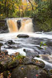 Root Beer Falls in Wakefield Michigan in the Upper Peninsula of Royalty Free Stock Photography