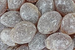Root Beer Flavored Hard Candy Close View Royalty Free Stock Photo