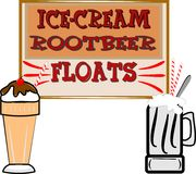 Root beer floats and ice cream Royalty Free Stock Photo
